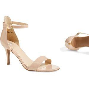 BP. Luminate Open Toe Dress Sandal, Blush size 10